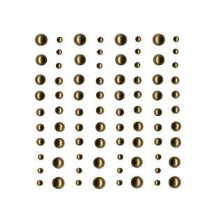 80 light golden adhesive beads