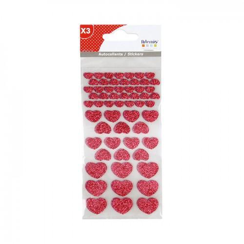 Pegatinas Corazones con brillo x 174 - rosa