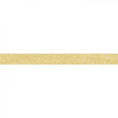 Masking tape light golden with fine glitter
