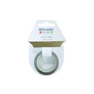 Masking tape dorado claro con brillo