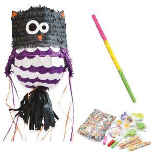 Owl piñata + stick + surprises