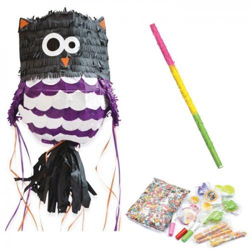 Coffret Piñata Chouette et ses suprises + bâton