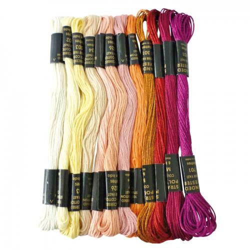 Colored yarn for Brazilian bracelet - Love Metal