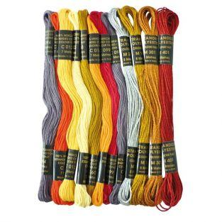 Colored yarn for Brazilian bracelet - Passion Metal