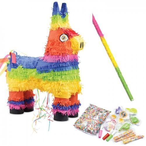 Piñata Burro + palo + sorpresas