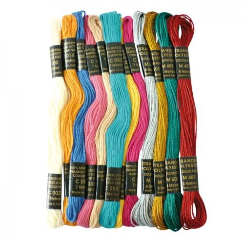 Colored yarn for Brazilian bracelet - Bollywood Metal