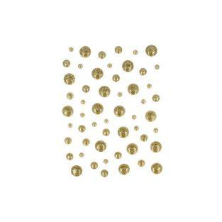 54 enamel drops - golden