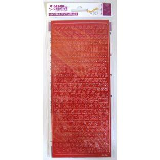 Alphabet stickers PEEL'S OFF 10.5 x 23.2 cm - red