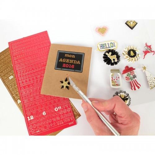 Stickers Alphabet PEEL OFF'S cuivre 10,5 x 23,2 cm