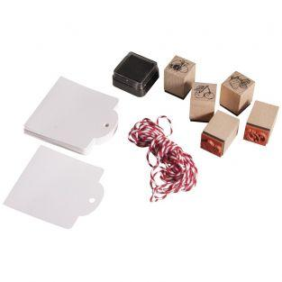 Kit mini wood stamps - Fresh fruit