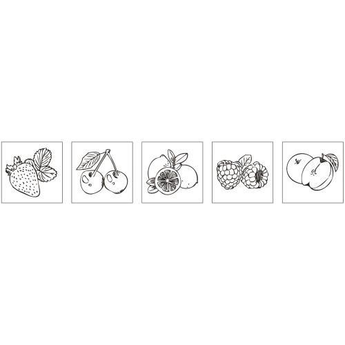 Kit mini wood stamps - Fresh fruit