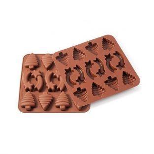 Molde de chocolates de Navidad de silicona
