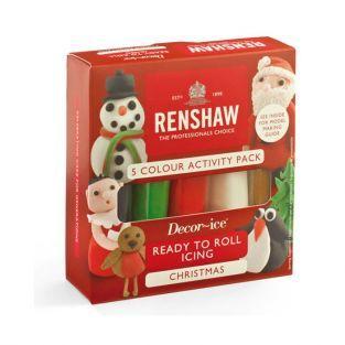 Coffret Noël de 5 pâtes à sucre Renshaw