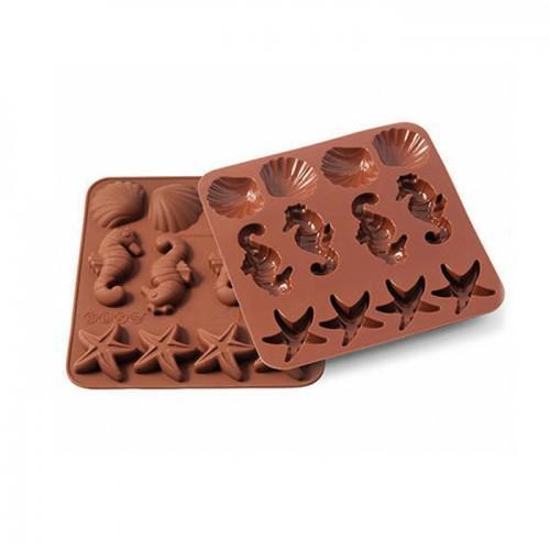 Molde de chocolates de silicona - la vida submarina