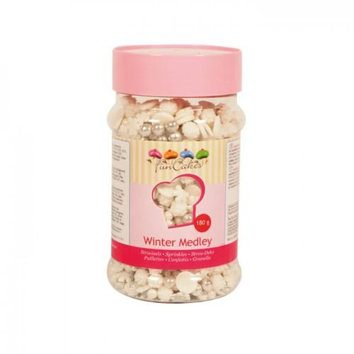Sugar sprinkle Medley for Winter and Christmas - 180 g