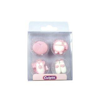 Sugar Decorations Baby Pipings Pink