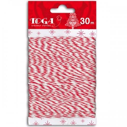 Red & white twine 30 m.
