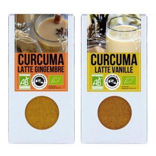 Duo de Latte - curcuma gingembre & curcuma vanille