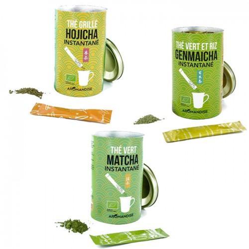 Kit de thés instantanés - Matcha-Genmaicha-Hojicha
