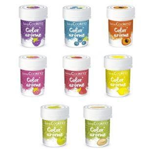 Kit 8 Colorants alimentaires aux Arômes de fruits