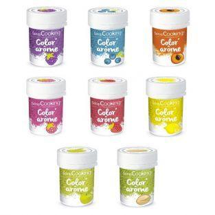 Kit 8 colorantes alimentarios con aroma de frutas