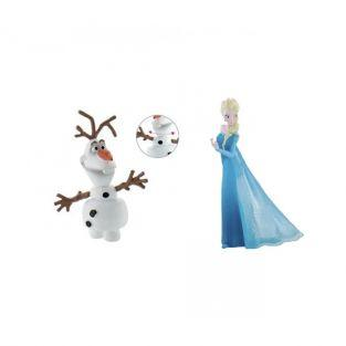 Figurines La Reine des Neiges Olaf & Elsa