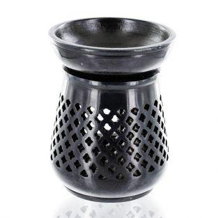 Moucharabieh incense holder - black stone