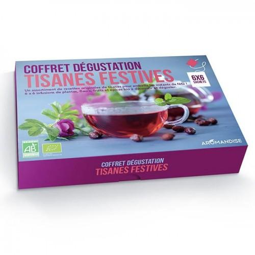 Caja de degustación de tisanas festivas - 36 bolsitas