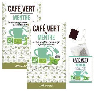Café verde con menta - 40 bolsitas