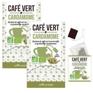Café verde con cardamomo - 40 bolsitas