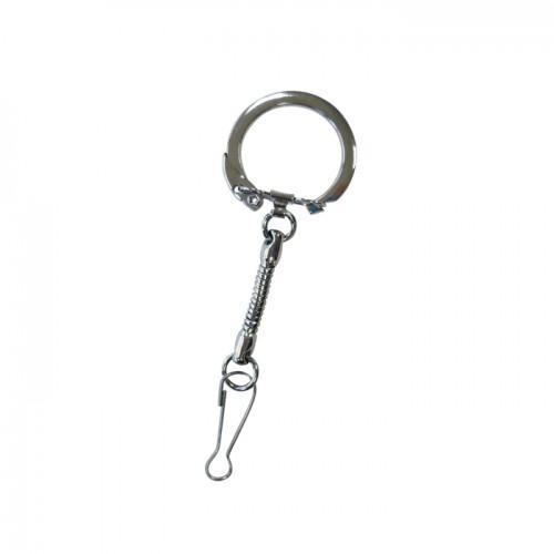 10 porte-clés avec mousqueton métal 8 cm