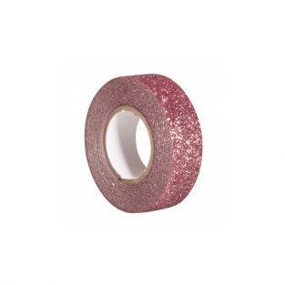 Glitter tape 5 m x 1,5 cm - old pink