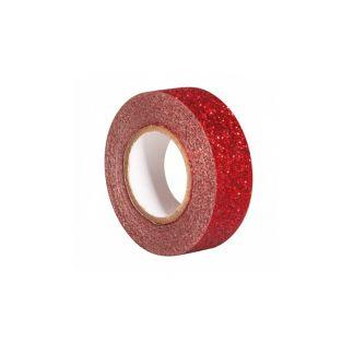 Cinta adhesiva con brillo 5 m x 1,5 cm - rojo