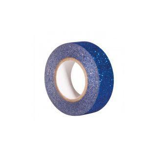 Cinta adhesiva con brillo 5 m x 1,5 cm - azul medianoche