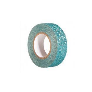 Cinta adhesiva con brillo 5 m x 1,5 cm - azul laguna
