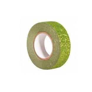 Glitter tape 5 m x 1,5 cm - green