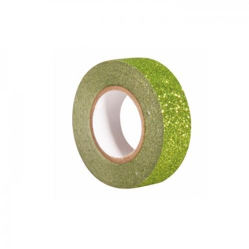 Glitter tape 5 m x 1,5 cm - vert
