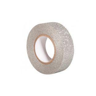 Cinta adhesiva con brillo 5 m x 1,5 cm - plata