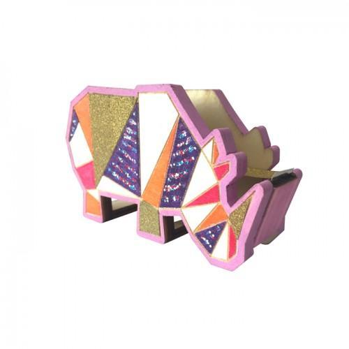 Adhesive tape dispenser Rhinoceros - wood 11 cm