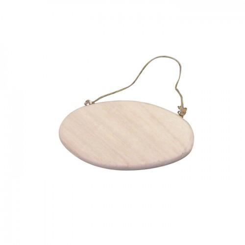 Plaque de porte ovale avec cordelette 14,5 cm