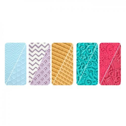 Placas de textura para arcilla polimérica x 5