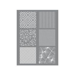 Esténcil para arcilla polimérica 11,4 x 15,3 cm - geométrica