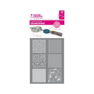 Polymer paste stencil 11,4 x 15,3 cm - Geometric