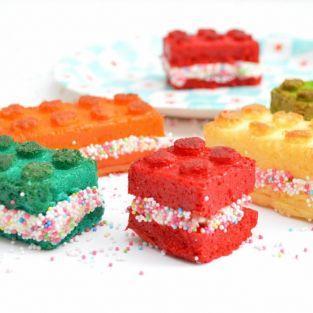Molde de silicona bloques de Lego + 4 colorantes alimentarios