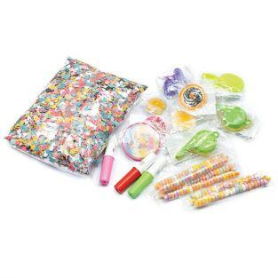 Surprises for Piñata (toys, candies) 16 pieces