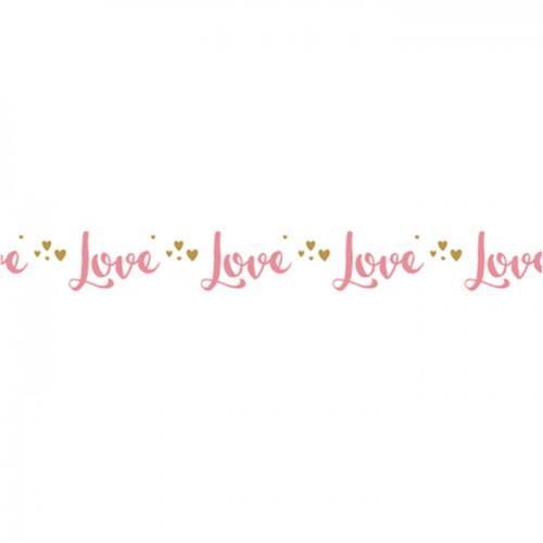 Washi Tape Love sur fond blanc - 15 m x 1 cm