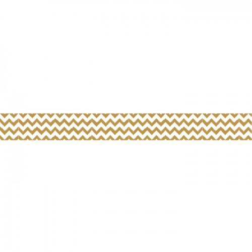 Washi Tape - Golden Zigzag - 15 m x 1,5 cm