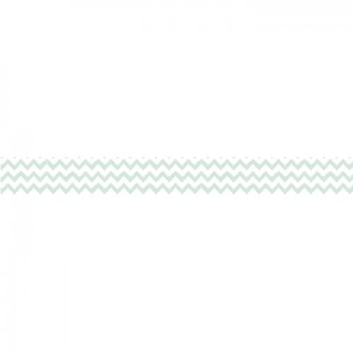 Washi Tape - Green Zigzag - 15 m x 1,5 cm