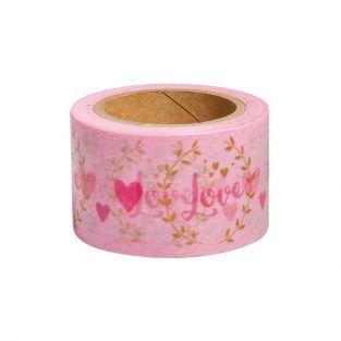 Washi Tape Love sur fond blanc - 15 m x 3 cm