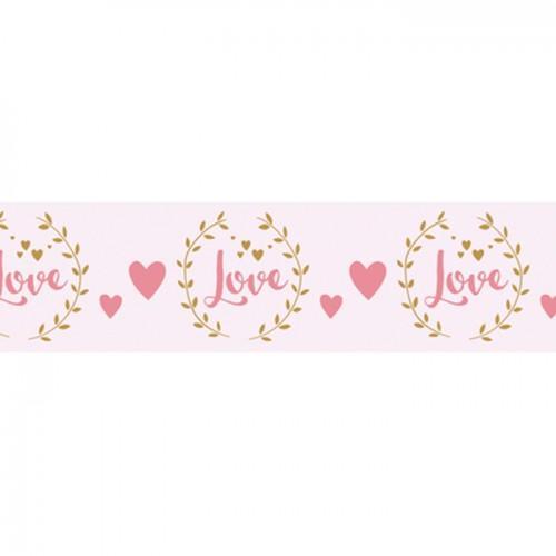 Cinta adhesiva Love sobre fondo blanco - 15 m x 3 cm